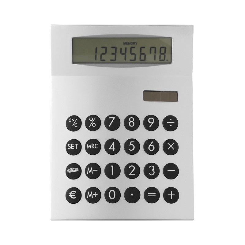 Calculatrice publicitaire Face-it - Calculatrice de bureau publicitaire