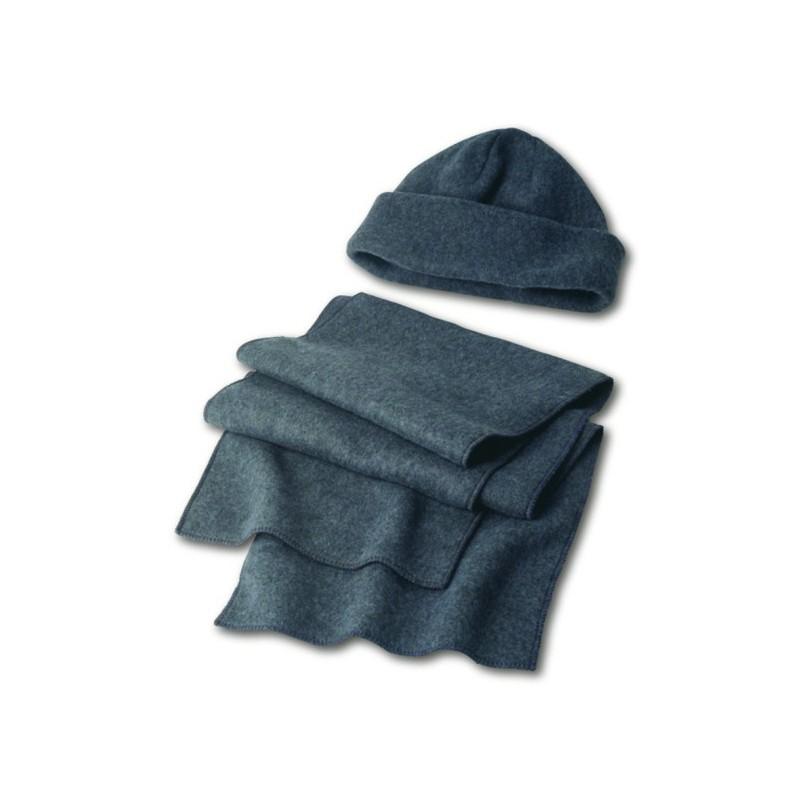 30-409 Set bonnet et écharpe polaires personnalisé