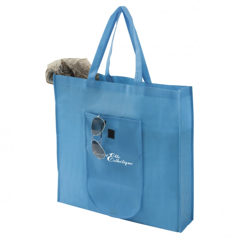 Sac shopping pliable non tissé - Sac shopping pliant publicitaire