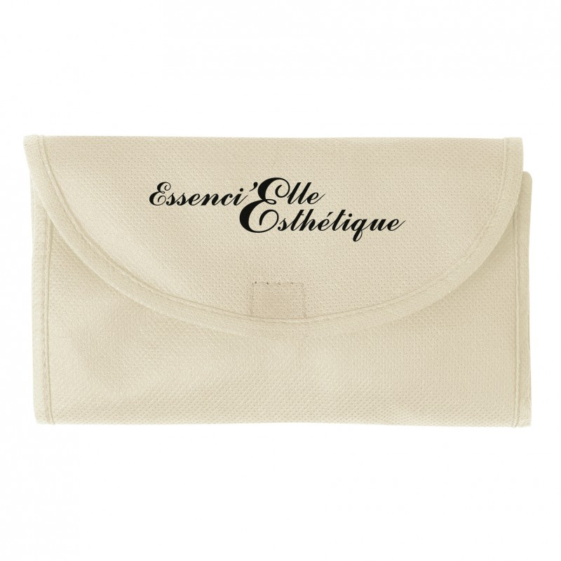 Sac shopping pliable non tissé - Sac shopping pliant - marquage logo
