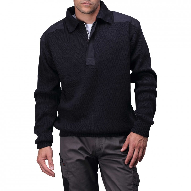 Pull-over col polo Worky - Pull publicitaire