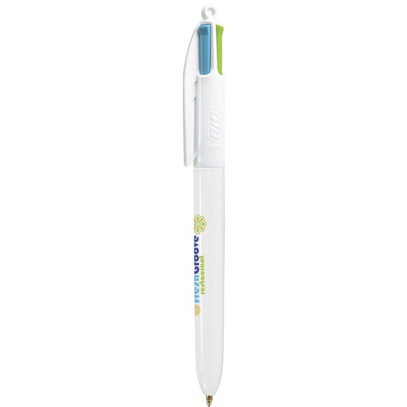 Stylo-bille 4 couleurs Bic - Stylo multifonctions - marquage logo
