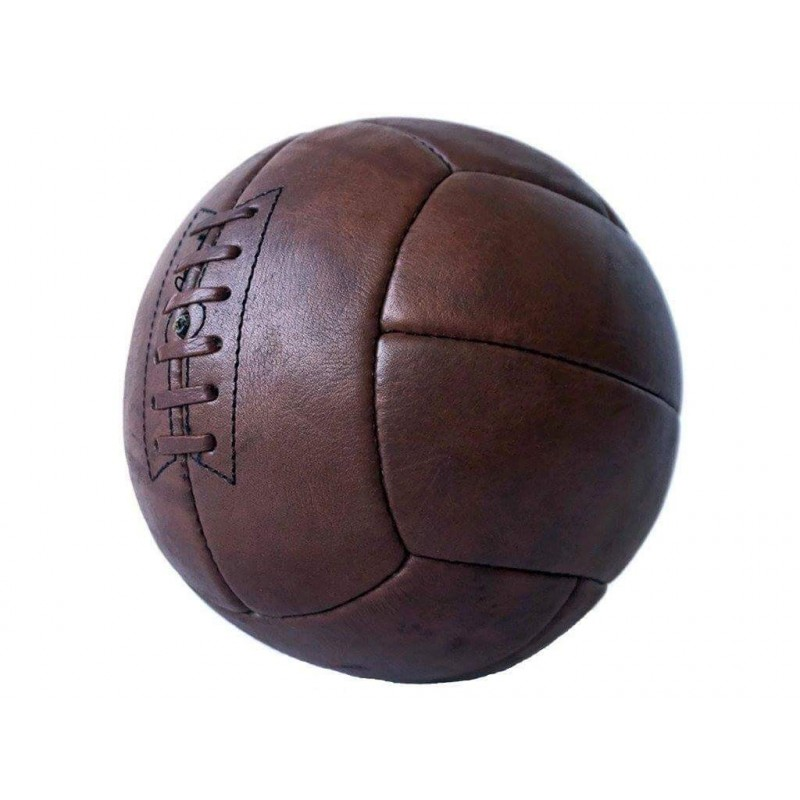 Ballon de football Old School Leather - Importation directe publicitaire