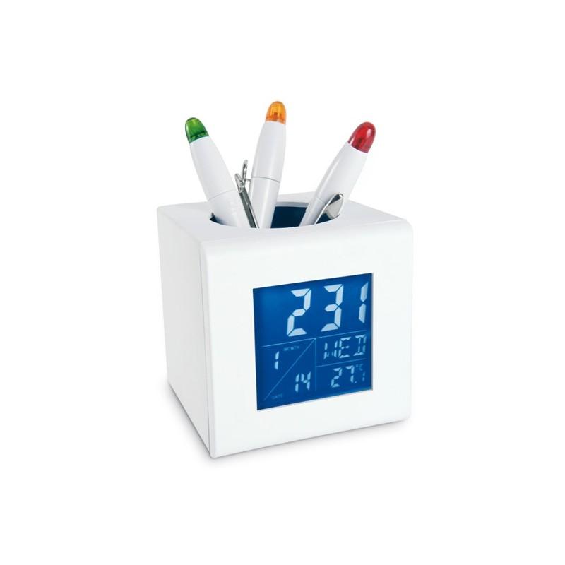 Station météo avec porte stylo Cubo - Station météo personnalisé