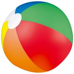 Ballon de plage gonflable multicolore