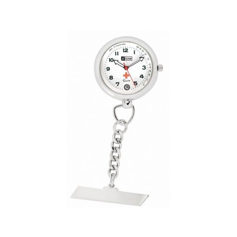 Montre infirmière chaine métal - Montre infirmière sur mesure
