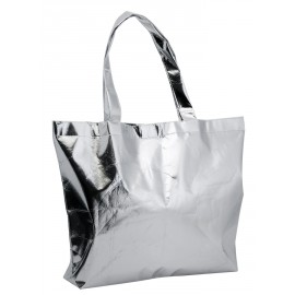 Sac shopping non-woven satin et brillant