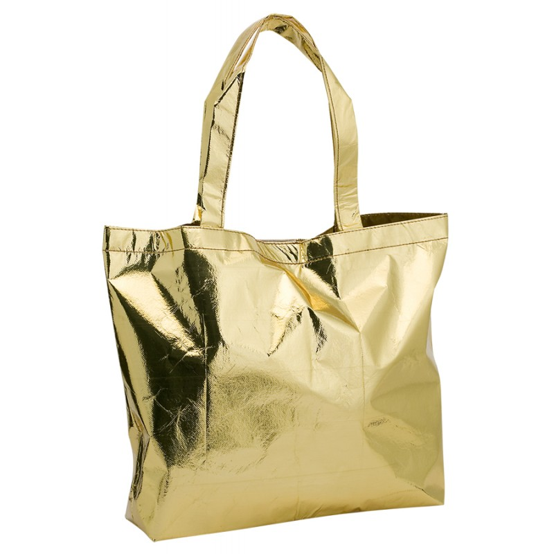 Sac shopping non-woven satin et brillant - Sac shopping tendance sur mesure