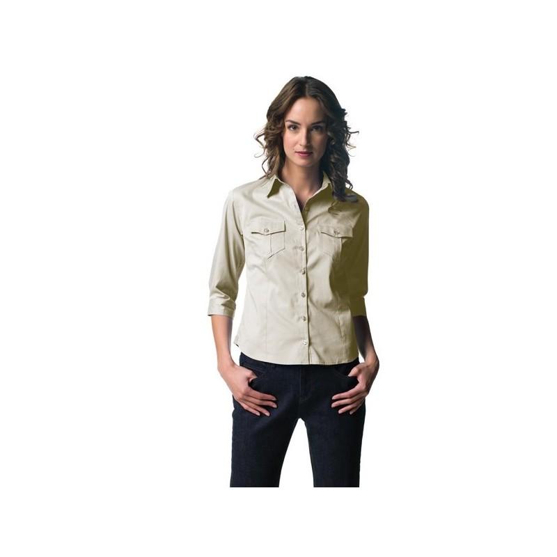 Chemise femme manches 3/4 - chemise publicitaire femme - objets publicitaires