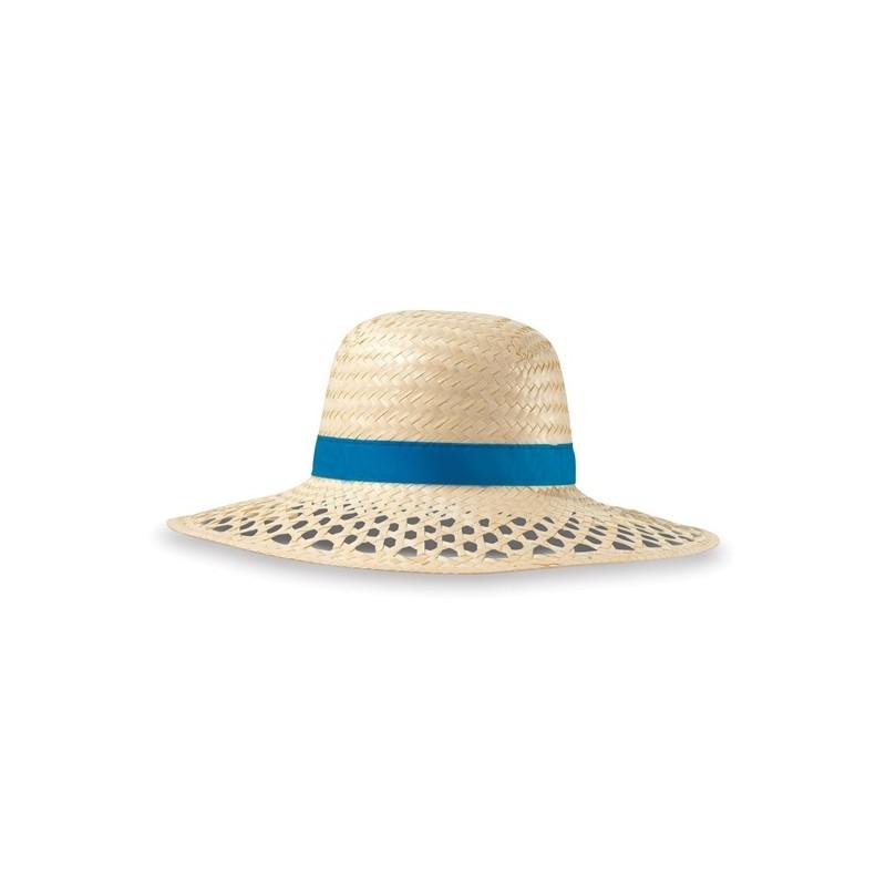 Chapeau de paille Yuca - Accessoires de plage publicitaire