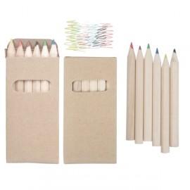 Set crayons de couleurs 6 pièces
