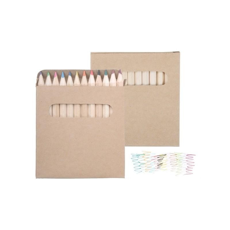 10-365 Set de 12 crayons de couleurs personnalisé