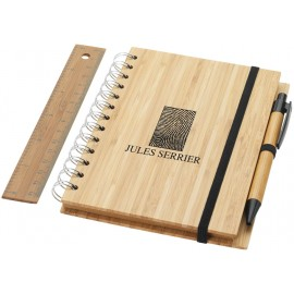 Set bloc-notes Franklin en bois