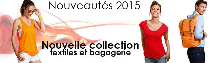 Nouveautés textiles 2015