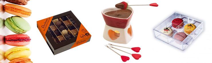 Chocolats et macarons personnalisés