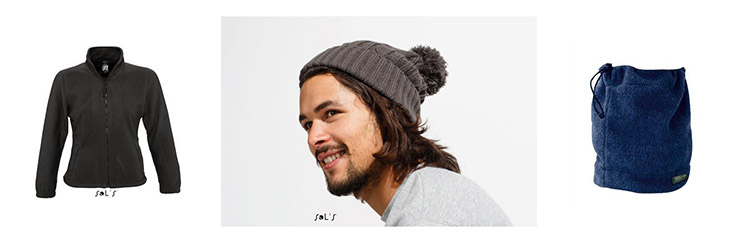 Polaires et bonnets publicitaires