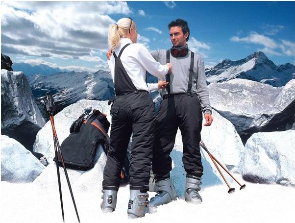Pantalon de ski publicitaire