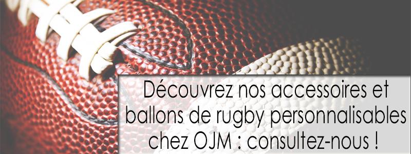 Accessoires et ballons de rugby publicitaires