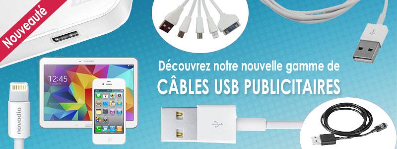 Câbles USB publicitaires personnalisés