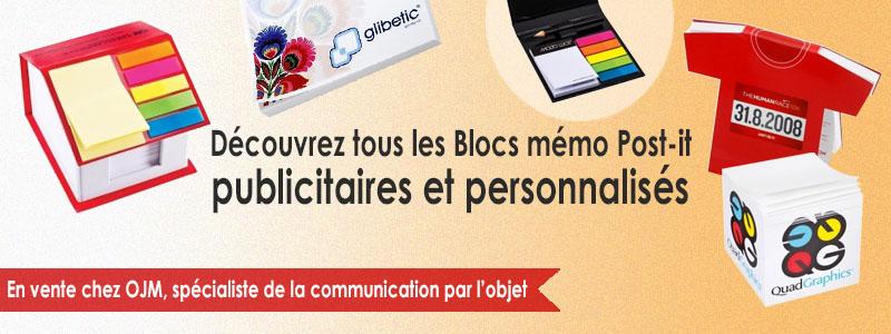 Bloc mémo post-it personnalisé