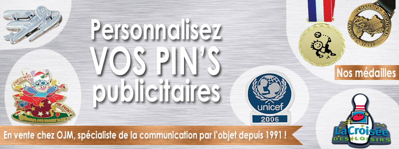 Pin's publicitaires personnalisables