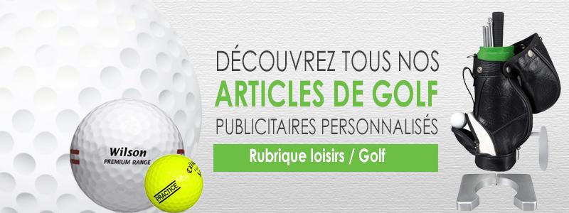 Articles de golf pubicitaires