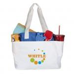 sac de plage blanc ou bleu publicitaire