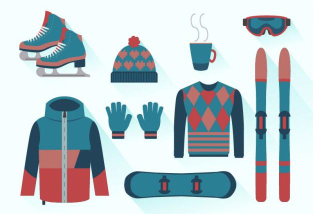 équipements ski publicitaires