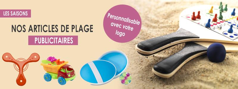 accessoires de plage publicitaires - bannière