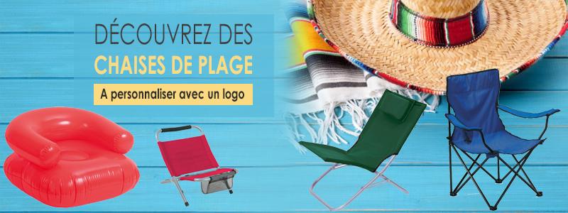 chaises publicitaires de plage - bannière