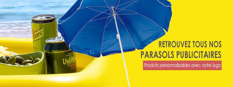 parasols publicitaires - bannière