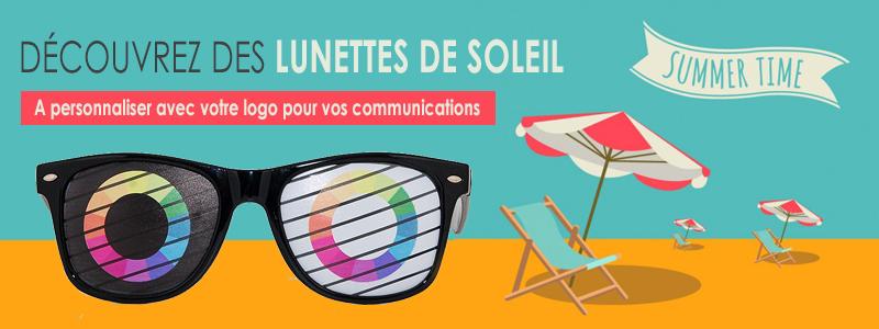 lunettes de soleil publicitaires - bannière
