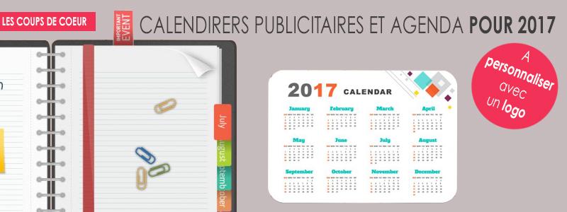 -calendrier et agendas publicitaires