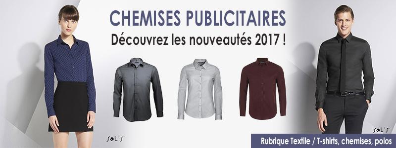 chemise publicitaire
