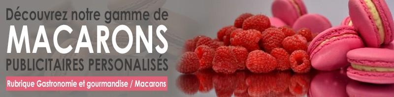 Macarons publicitaires personnalisables