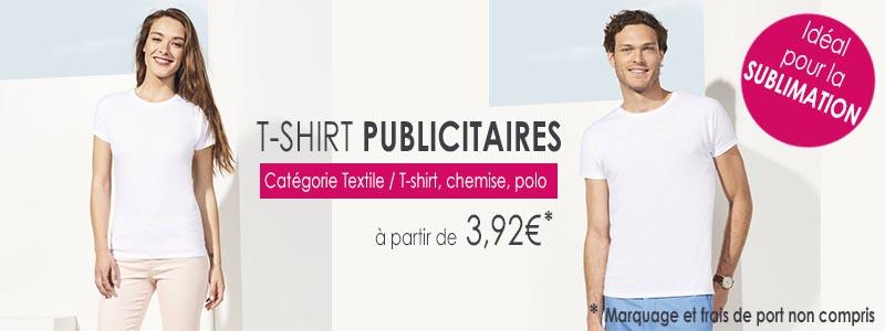 T-shirt publicitaire idéal pour la sublimation