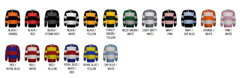 coloris polo rugby publicitaire Kariban