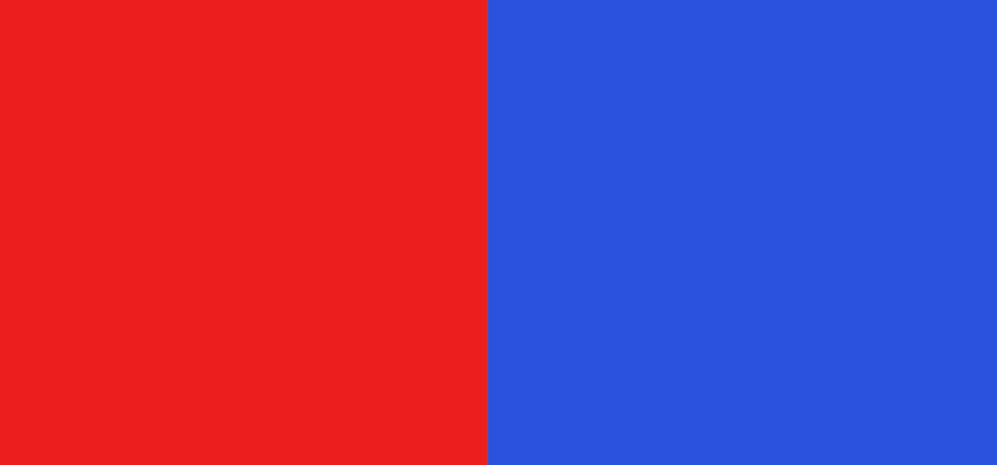 Rouge / bleu